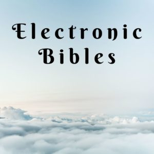 Electronic Bibles